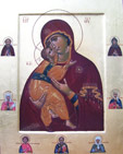Theotokos of Vladimir (and the saints)